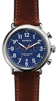 Shinola The Runwell Chronograph Brown Strap Watch, 47mm