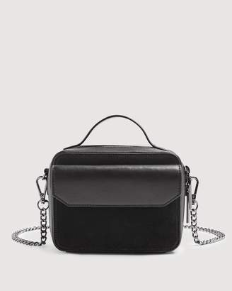 7 For All Mankind Leather Cube Bag in Black