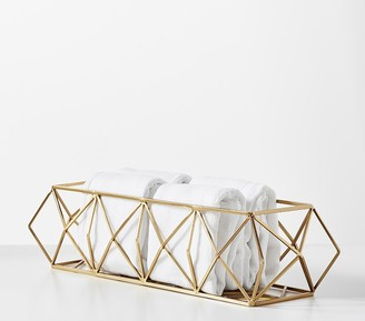 Pottery Barn Kids Metal Prism Diaper Caddy