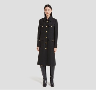 Mulberry Gayle Coat Black Winter Twill