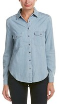BCBGMAXAZRIA Chambray Top.