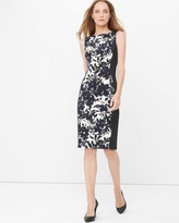 White House Black Market Sleeveless Graphic Floral Sheath Dress