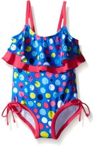 Pink Platinum Baby Colorful Dots Swimsuit
