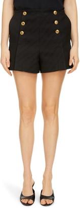 Givenchy 4G Button Chain Jacquard Shorts