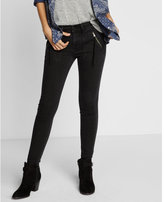 Express mid rise black ankle jean legging