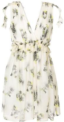 MSGM Floral Print Mini Dress