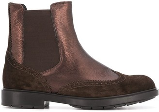 Fratelli Rossetti Panelled Brogue Ankle Boots