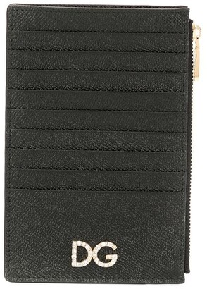 Dolce & Gabbana Logo Plaque Zip Purse