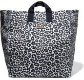 Stella McCartney Printed Cotton-canvas Tote - Midnight blue