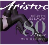 Aristoc 80 Denier Opaque Hold Ups Black 1 Pair Pack