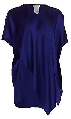 Rosetta Getty Women's Asymmetric Satin Caftan Top - Size 0