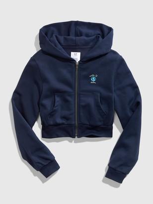 Gap Teen Crop Full-Zip Hoodie