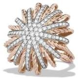 David Yurman Starburst Ring With Diamonds In Rose Gold