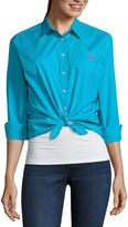 U.S. Polo Assn. Long Sleeve Button-Front Shirt-Juniors