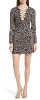 Saloni Women's Nurul Floral Print Lace-Up Dress