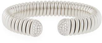 Milani Alberto 18k White Gold Flex Cuff Bracelet w/ Diamonds