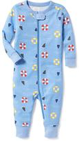 Old Navy Shark-Fin Print One-Piece Sleeper for Toddler & Baby