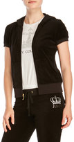 Juicy Couture Crown Graphic Short Sleeve Velour Track Jacket
