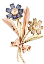 Tiffany & Co. Sapphire Floral Brooch