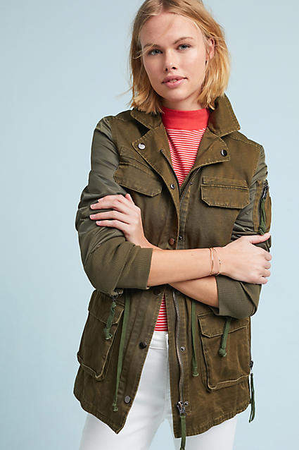 Anthropologie Doma Army Anorak
