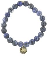 Sydney Evan Elephant Medallion On Sodalite Beaded Bracelet