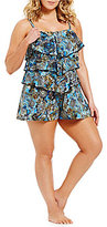 Fit 4 U Plus Easy Living Three Tiered Romper One-Piece