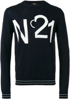 No.21 logo print sweatshirt - men - Virgin Wool - M