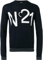 No.21 logo print sweatshirt - men - Virgin Wool - S