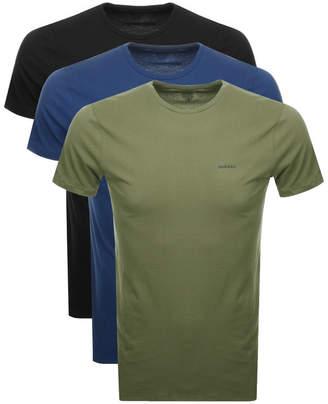 Diesel UMTEE Jake 3 Pack T Shirt Navy