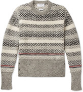 Thom Browne - Striped Mélange Wool And Mohair-blend Sweater
