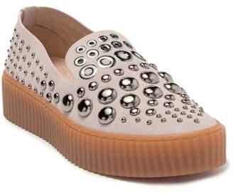 Pinko Bomba 1 Camoscio Borchie Occhielli Platform Slip On Sneaker