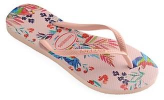 Havaianas Kid's Slim Tropical Floral Slide Sandals