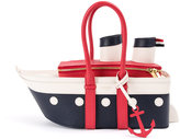 Thom Browne boat shaped tote bag - women - Calf Leather/Brass - One Size