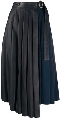 Paul Smith Pleated Asymmetric Hem Skirt