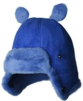 UGG Water Resistant Sheepskin Trapper with Ears Hat (Toddler/Little Kids) (Deep Periwinkle) Caps