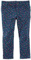 Osh Kosh Toddler Girl Floral Patterned Knit Pants
