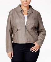 American Rag Trendy Plus Size Faux-Leather Jacket, Only at Macy's