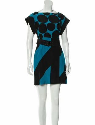Gucci Silk Printed Dress Black