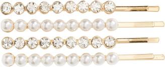 Tasha 4-Pack Imitation Pearl & Crystal Bobby Pins
