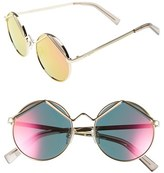 Le Specs Women's 'Wild Child' 52Mm Sunglasses - Gold/ Pink Mirror