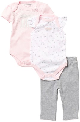 Juicy Couture 2 Bodysuit & Pants Set (Baby Girls 0-9M)