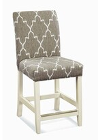"""BEIGE Pierson 24"""" Bar Stool Braxton Culler Color: Cottage White, Upholstery and White Stripe; 0239-94"""