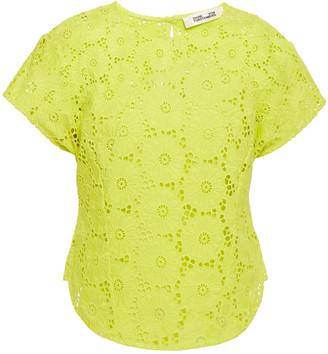 Diane von Furstenberg Broderie Anglaise Cotton Top