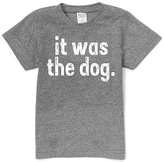 Urban Smalls Heather Gray 'It Was the Dog' Tee - Toddler & Boys