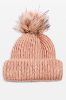 Topshop Faux Fur Pom Pom Beanie Hat