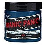 Manic Panic Semi-Permament Haircolor Voodoo Blue 4 Ounce Jar (118ml)