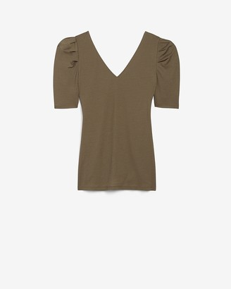 Express Ruched Puff Sleeve Tee