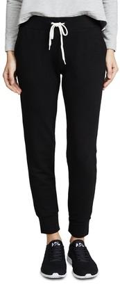 Monrow Women's Sporty Sweatpants - black - Medium