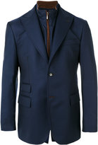 Pal Zileri detachable collar blazer - men - Polyurethane/Cupro/Wool - 50