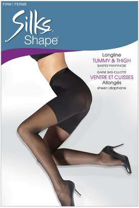 Silks Shape Firm Control Long Line All Over Shaping Pantyhose With Sheer Leg